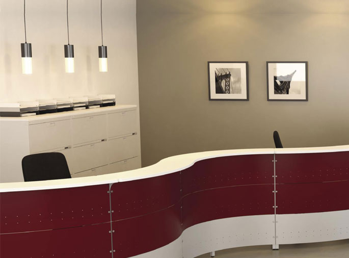 Custom reception desks for your space.