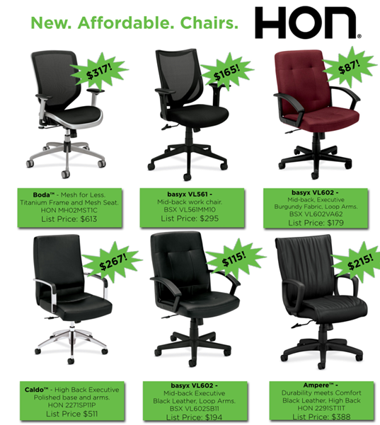 hon and bsx seating specials hallmark office furniture